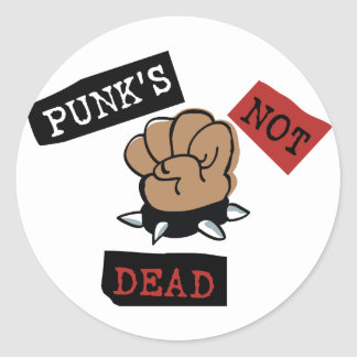 Punk's Not Dead Round Sticker