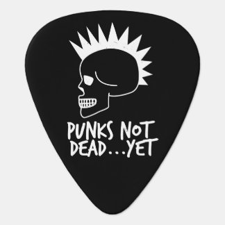 Punks Not Dead...Yet Skull Dark Guitar Pick