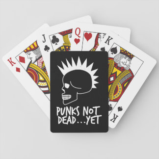 Punks Not Dead...Yet Skull Dark Playing Cards