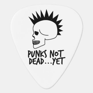 Punks Not Dead...Yet Skull White Guitar Pick