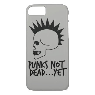 Punks Not Dead...Yet Skull White iPhone 8/7 Case