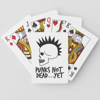 Punks Not Dead...Yet Skull White Playing Cards