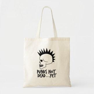 Punks Not Dead...Yet Skull White Tote Bag