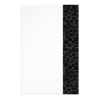Punky Black Leopard Print Custom Stationery