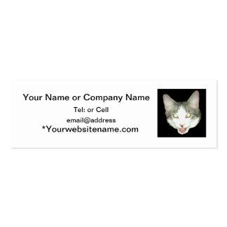 Punkysthe cat head shot business card templates