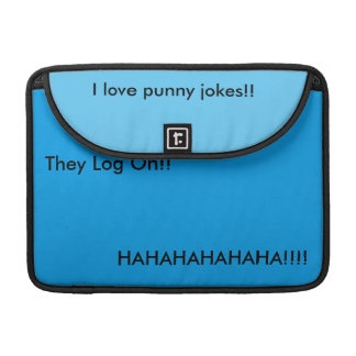Punny internet jokes sleeve for MacBook pro