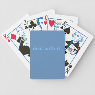 Punny Playing Cards: Deal With It Bicycle Playing Cards