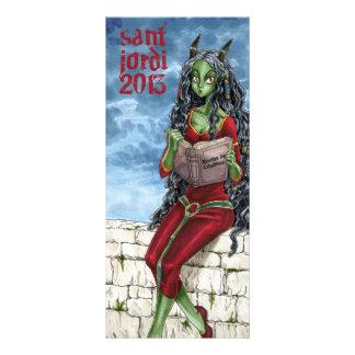 Punt of llibre Drac Sant Jordi 2013 Personalised Rack Card