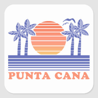 Punta Cana Square Sticker