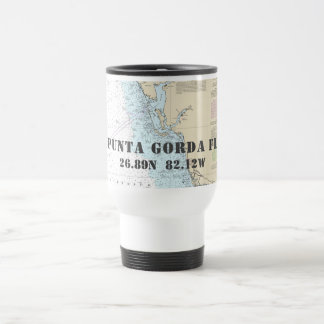 Punta Gorda FL Latitude Longitude Boater's Travel Mug
