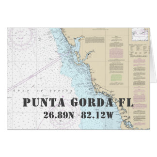 Punta Gorda FL Nautical Navigation Chart Boater's Card