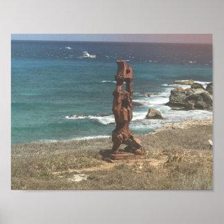 Punta Sur Sculpture, Mexico Poster