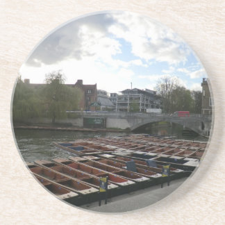 Punts on the River Cam in Cambridge Coaster