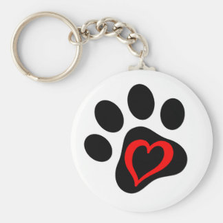 Pup-cake the Service Dog Basic Round Button Key Ring