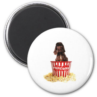 Pup-corn anyone? 6 cm round magnet