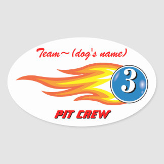 """Pup Cup Classic_Team """"Dog's Name""""_Pit Crew custom Stickers"""