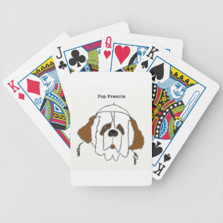 Pup Francis for Small Items Bicycle Playing Cards