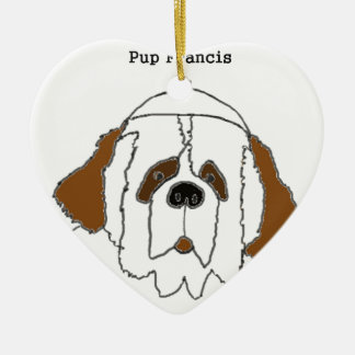 Pup Francis for Small Items Ceramic Heart Decoration