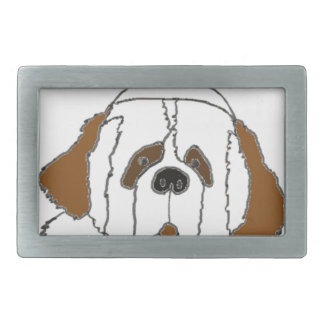 Pup Francis for Small Items Rectangular Belt Buckle