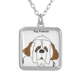 Pup Francis for Small Items Silver Plated Necklace