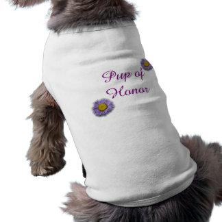 Pup of Honor Doggy Wedding Shirt Sleeveless Dog Shirt