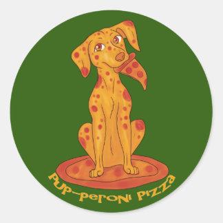 Pup-peroni Pizza Round Sticker