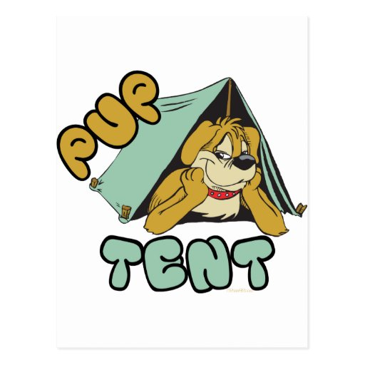 Pup Tent Camping Postcards