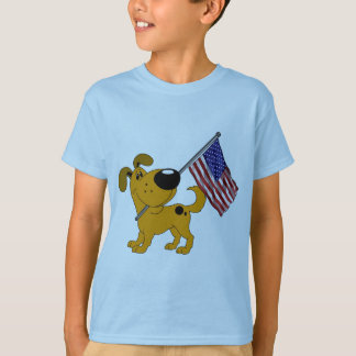Pup with Flag T Shirt