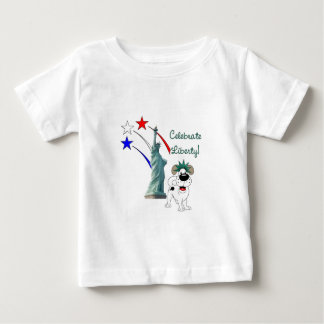 Pup with Lady Liberty and Fireworks Shirts