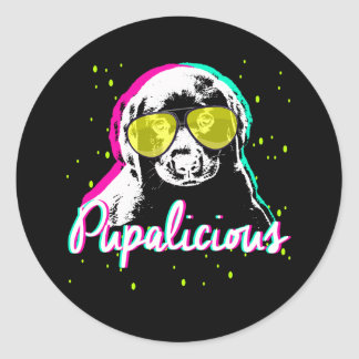Pupalicious Classic Round Sticker