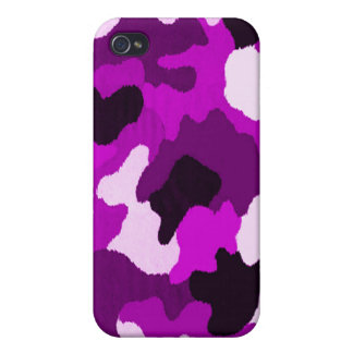 Puple Camo Covers For iPhone 4