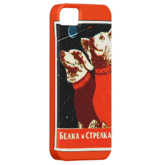 Pupniks Belka & Strelka Soviet Space Dogs iphone5 iPhone 5 Case