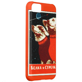 Pupniks Belka & Strelka Soviet Space Dogs iphone5 iPhone 5C Case