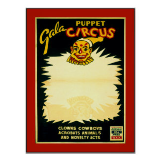 Puppet Circus Poster