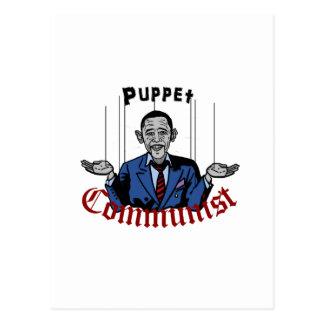 Puppet Comunist Postcard