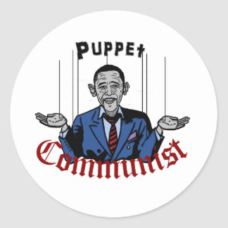 Puppet Comunist Round Sticker