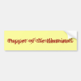 """Puppet of the Illuminati"" Bumper Sticker"