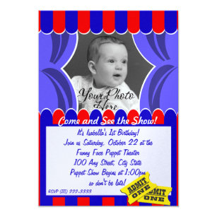 Puppet Show Photo Invitation