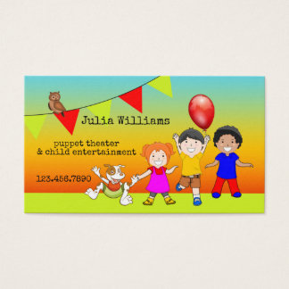 Puppet Theatre Child Entertainment Business Card