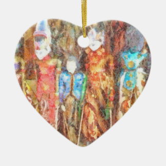 Puppets in Bali Ceramic Heart Decoration