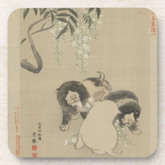 Puppies and Blossoms Drink Coasters