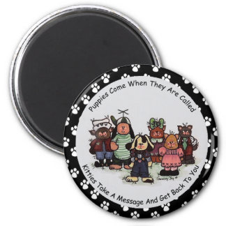 Puppies And Kitties Magnet
