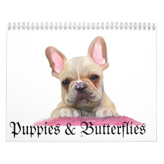Puppies & Butterflies Wall Calendars
