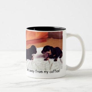 puppies Get away from my coffee! mug