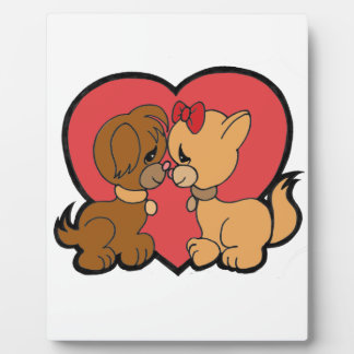 Puppies in Love Display Plaque