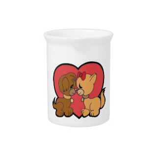 Puppies in Love Pitcher