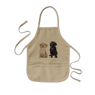 puppies kids apron