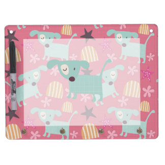 Puppies, Stars, and Flowers Dry Erase Boards