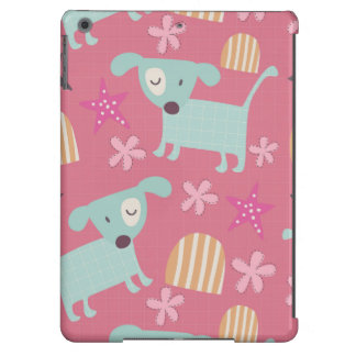 Puppies, Stars, and Flowers iPad Air Covers