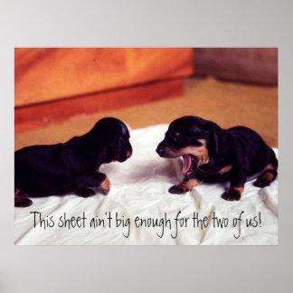 puppies This sheet ain't big enough poster
